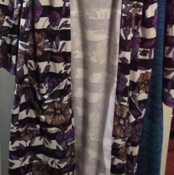 LuLaRoe Sweaters - Lularoe Sarah xl striped floral